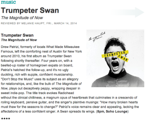 AustinChronicle_TrumpeterSwan_Review
